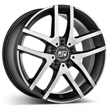 7X17 MSW MSW 28 Matt Black Full Poli 5-112 45 66.5